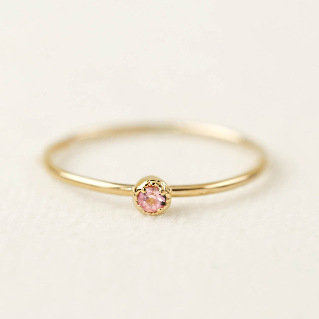 Dahlia Solitaire Ring - Pink Sapphire