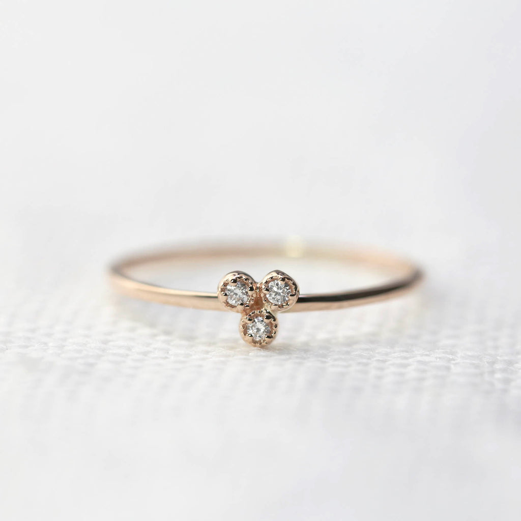 Dahlia Trio Diamond Ring