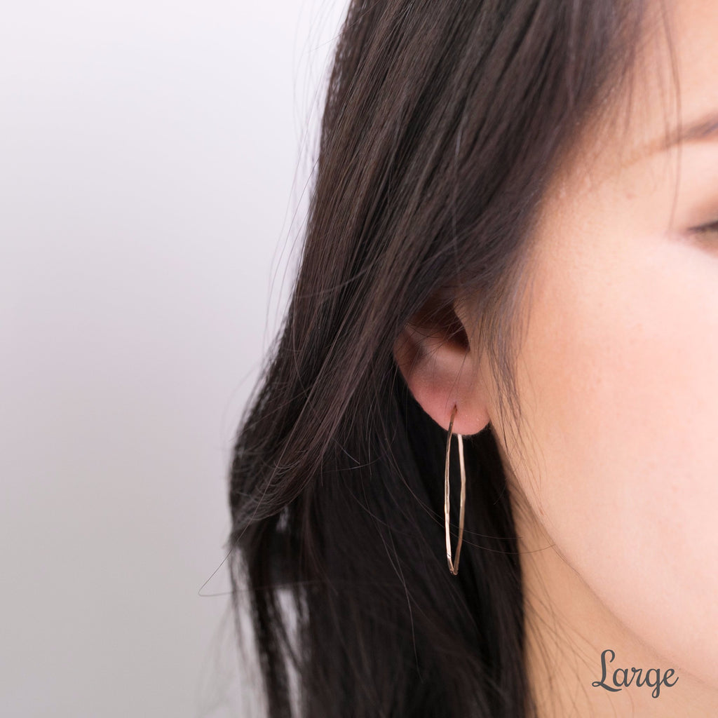 Gold Streaks Hoop Earrings
