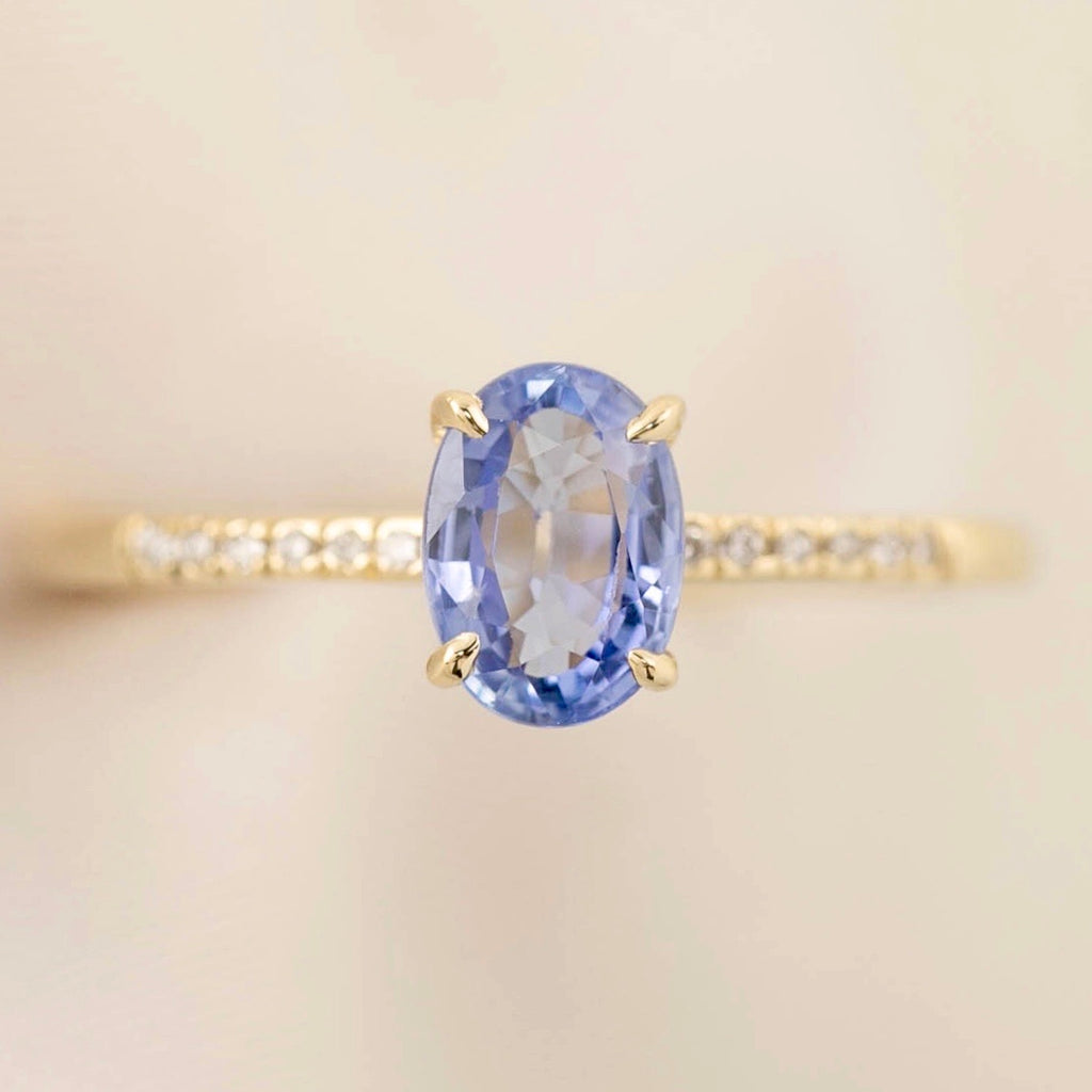 Audrey Ring - 1.1ct Ceylon Blue Sapphire (One of a kind)
