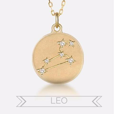 Custom Order - Leo Constellation Charm, 18k yellow gold