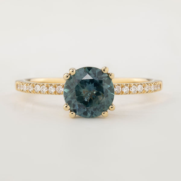 Sabrina Ring - 1.79ct Parti Teal Blue Sapphire (One of a kind)