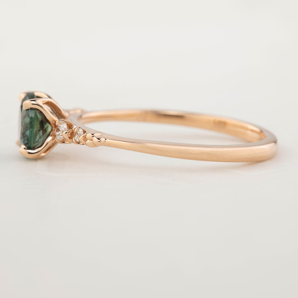 Estel Ring - 0.97ct Peacock Green Montana Sapphire (One of a kind)
