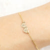 Two Initial Heart Bracelet (small)