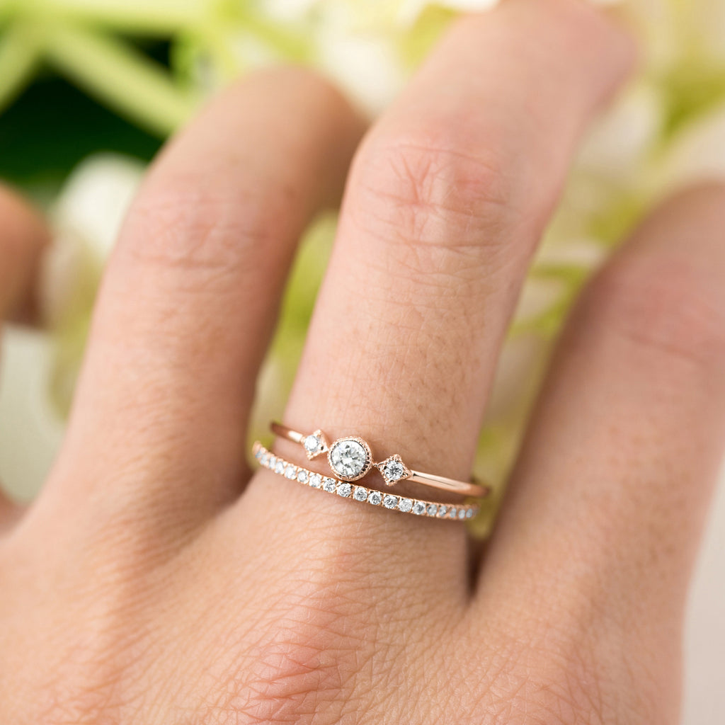 Meteor Diamond Pave Thin Band