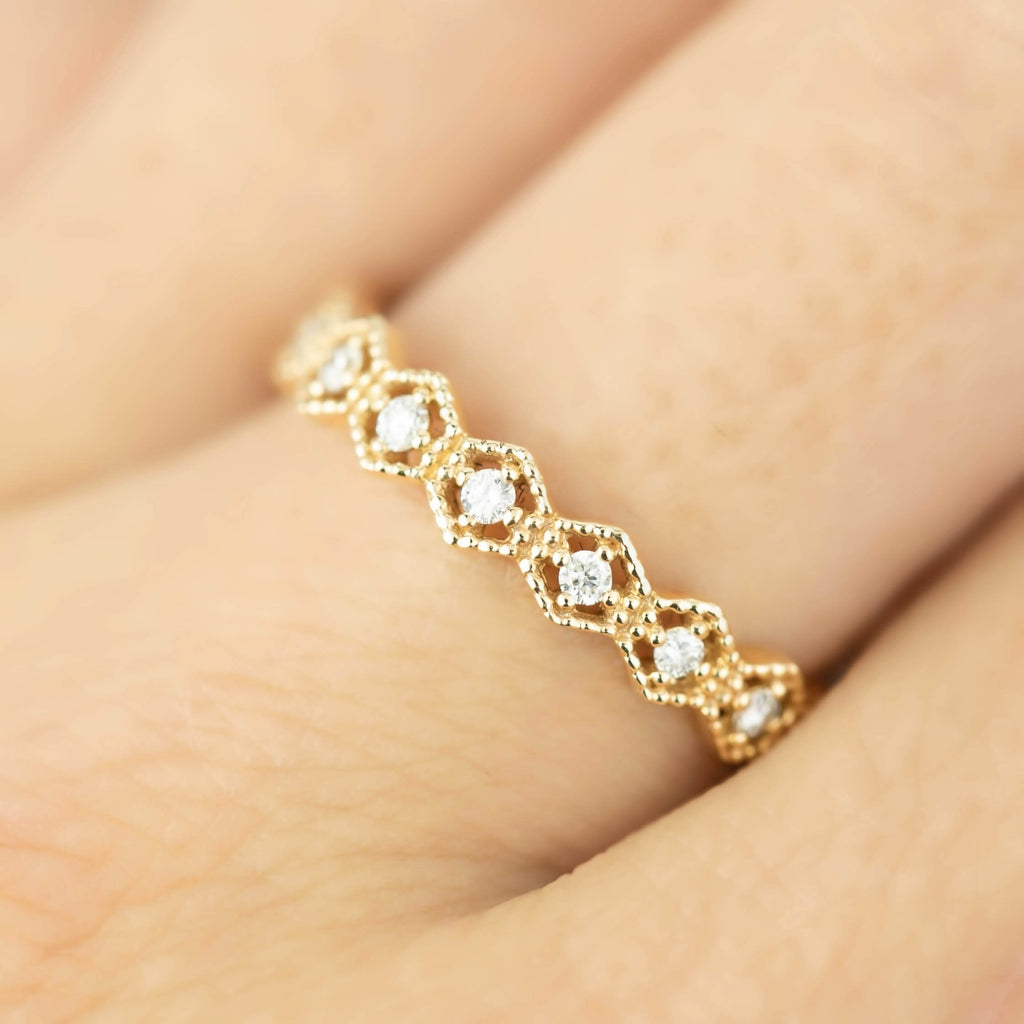 Migrain Hexagon Eternity Ring