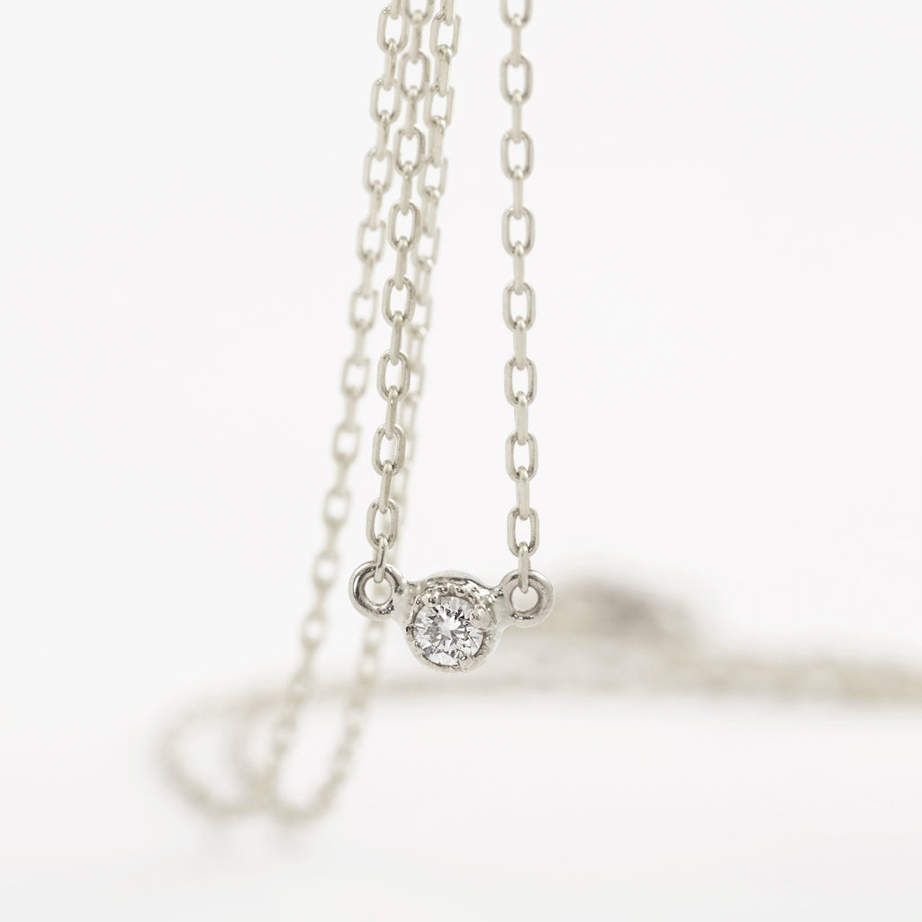 Dahlia Diamond Solitaire Necklace