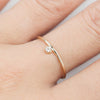 Gold Steaks Diamond Ring 2mm