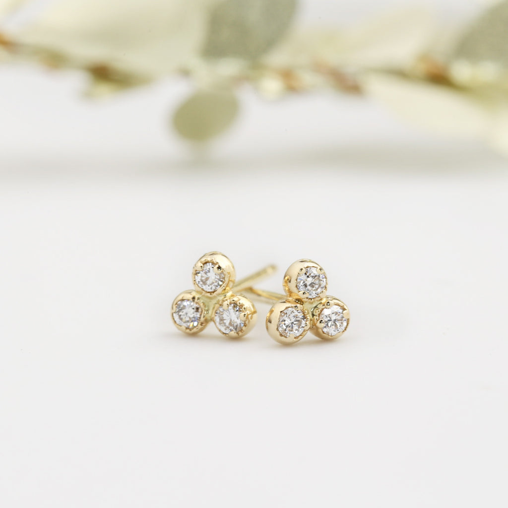Dahlia Trio Diamonds Studs