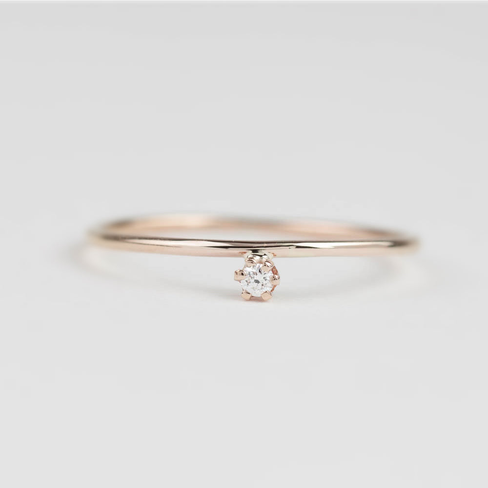 Gold Streaks Diamond Ring 2mm~3mm