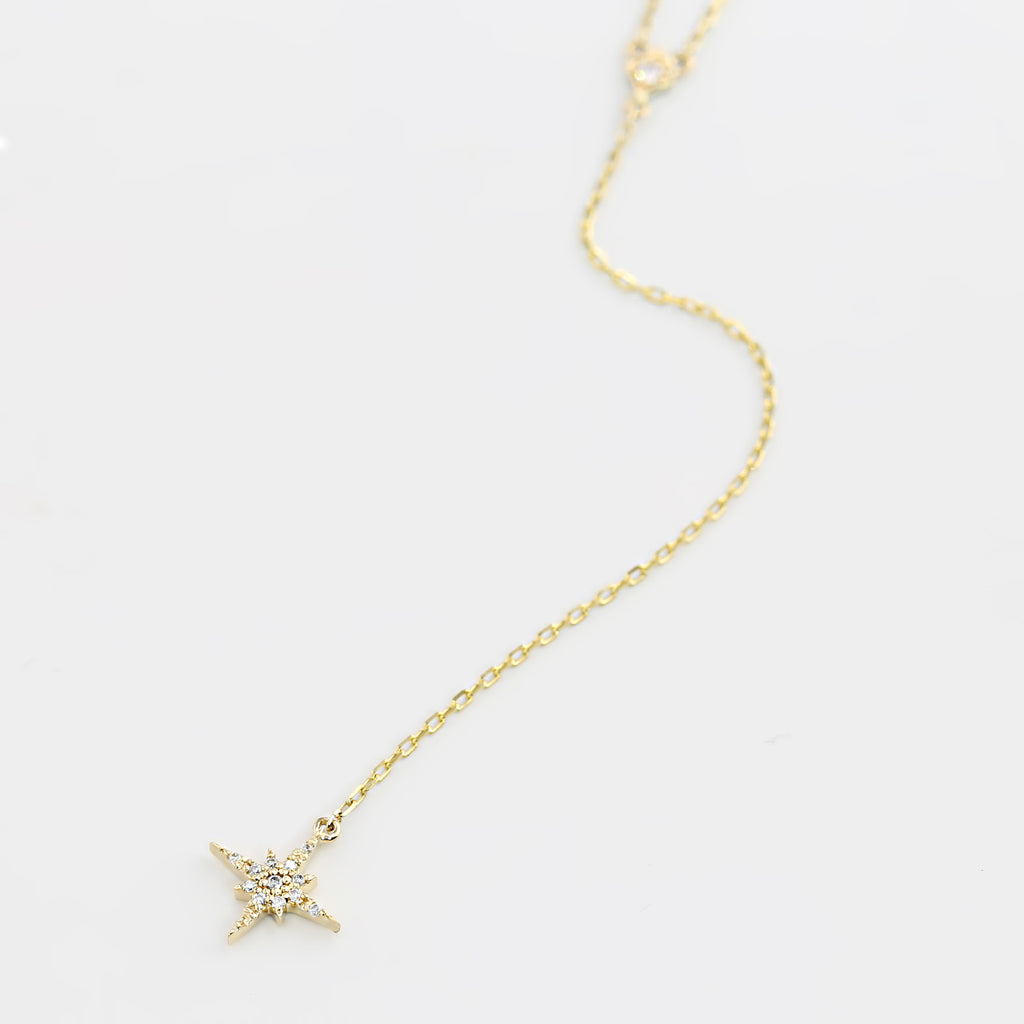 Starburst Drop Necklace with Star Charm