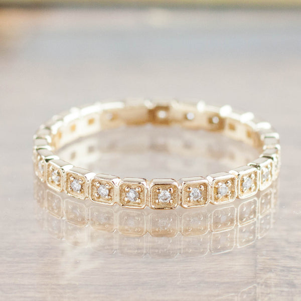 Hazel Eternity Ring - Diamond