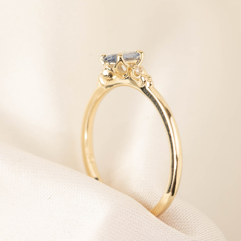 Estel Ring - 0.4ct Blue Sapphire (One of a kind)