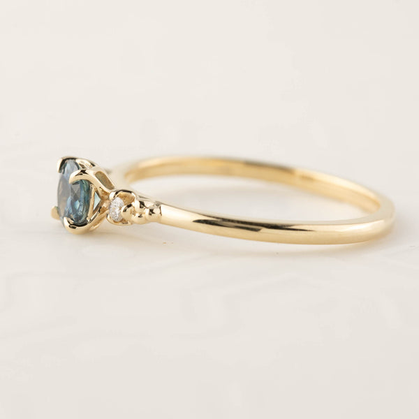 Estel Ring - 0.45ct Teal Blue Montana Sapphire (One of a kind)