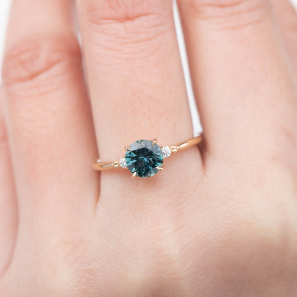 Estel Ring - 1.49ct Blue-Green Montana Sapphire (One of a kind)