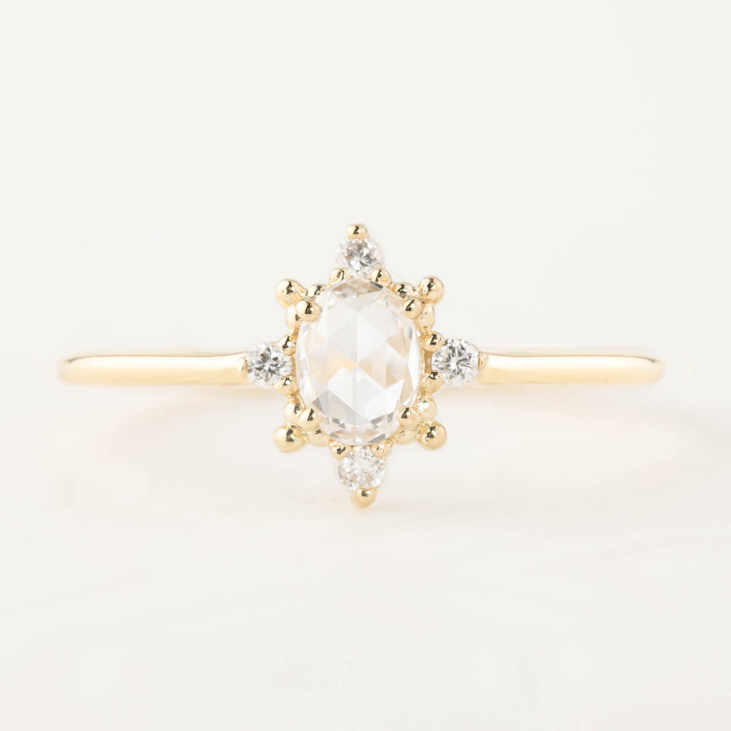 Victoria Ring - 0.25ct Rose Cut Diamond (One of a kind)