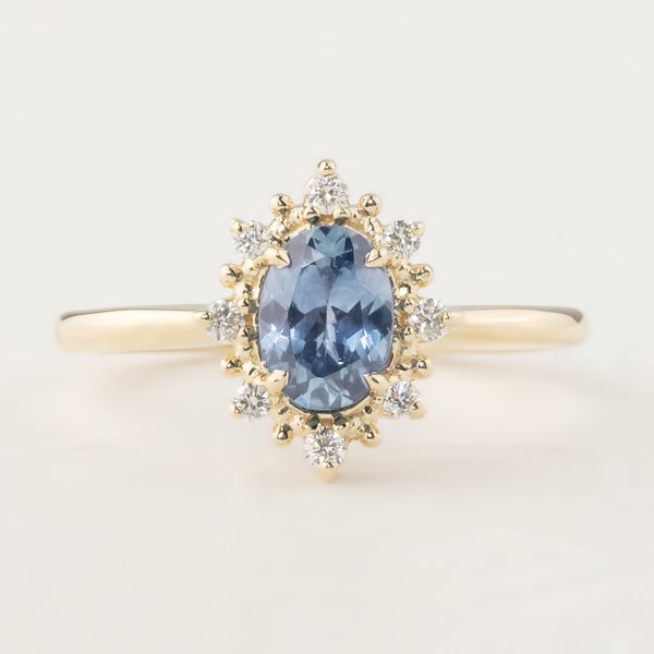 Victoria Ring - 1.09ct Light Blue Montana Sapphire (One of a kind)