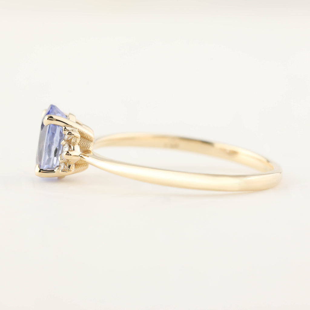 Lena Ring - 0.94ct Ceylon Blue Sapphire (One of a kind)