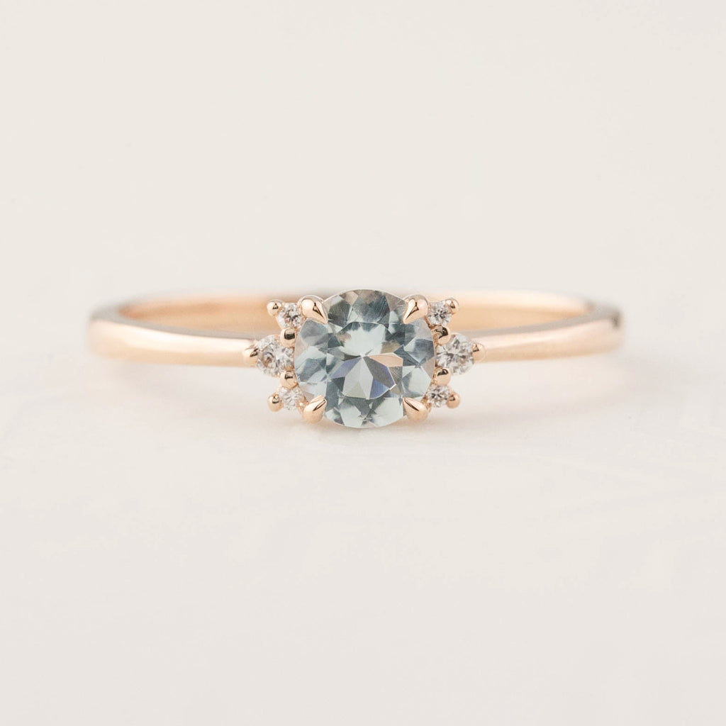Lena Ring - 0.4ct Aquamarine