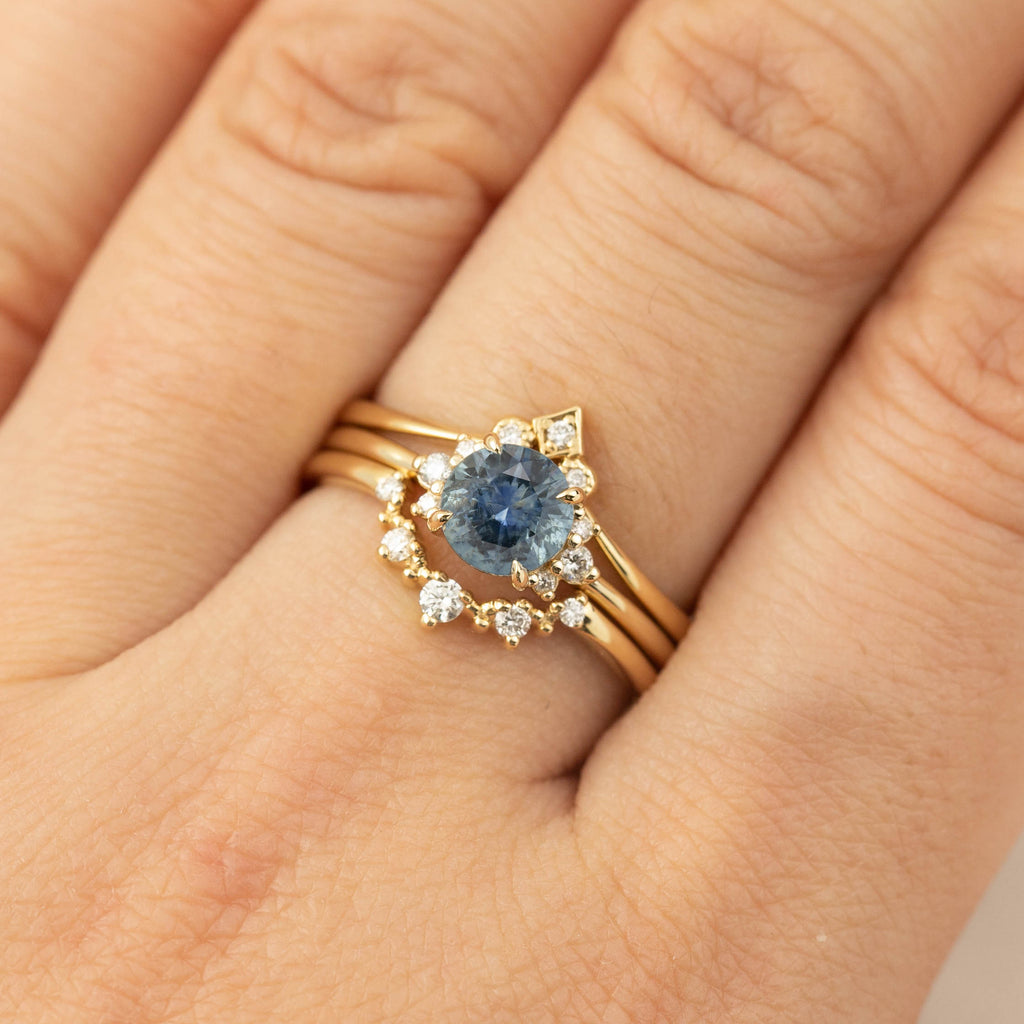Lena Ring -1ct Blue Montana Sapphire (One of a kind)