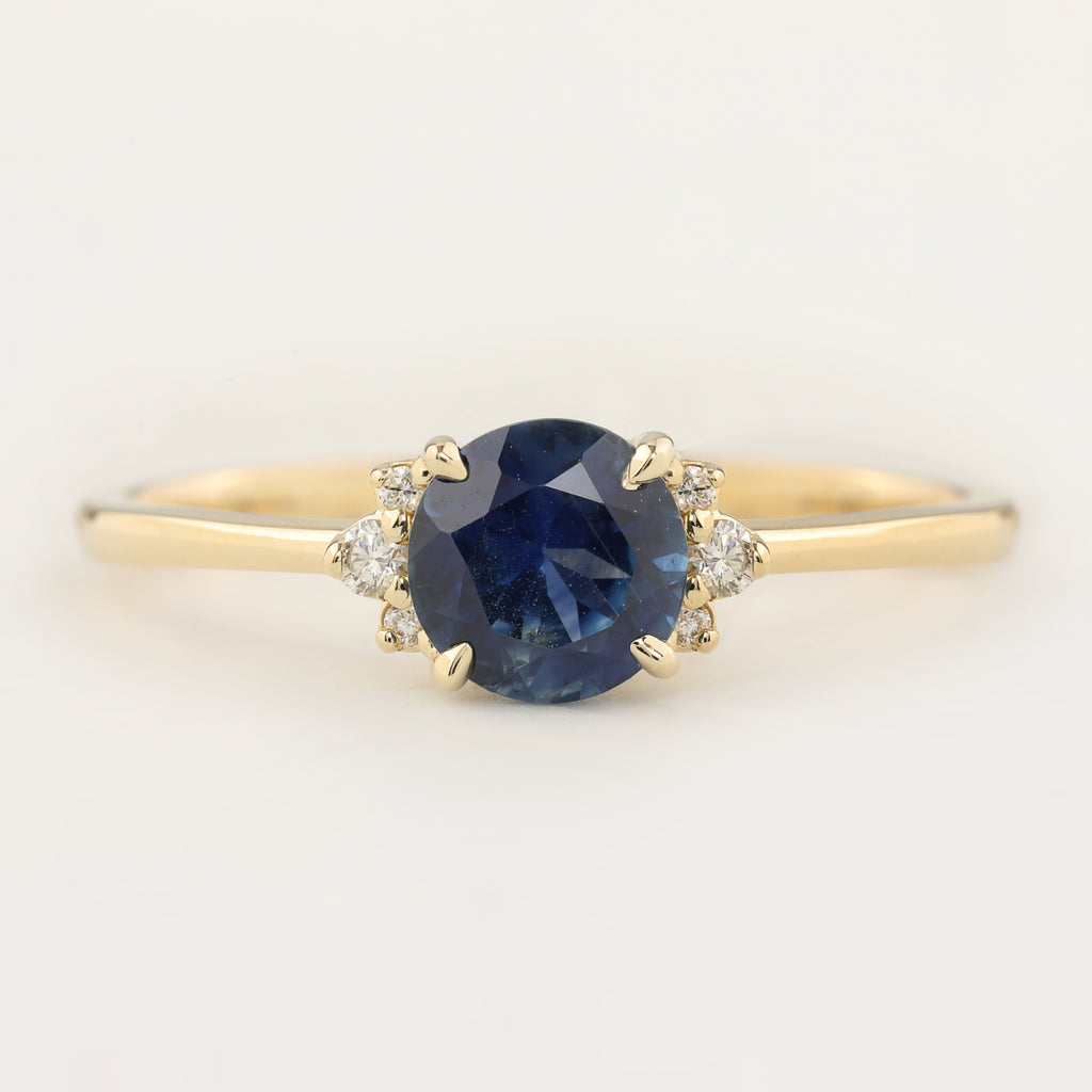 Lena Ring - 1.18ct Blue Montana Sapphire (One of a kind)