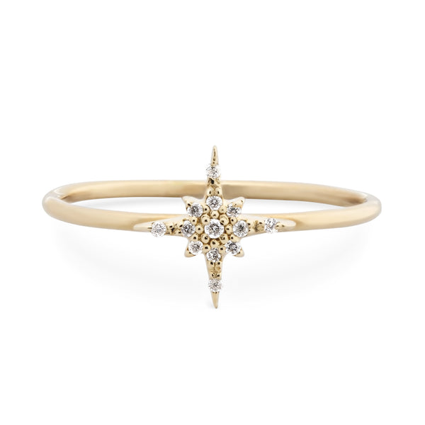 Small Starburst Diamond Ring