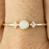 Star Moon Ring - Opal & Pink Sapphire