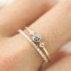 Star & Moon Ring - Aquamarine