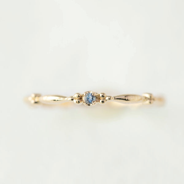 March - Aquamarine Rubette Ring