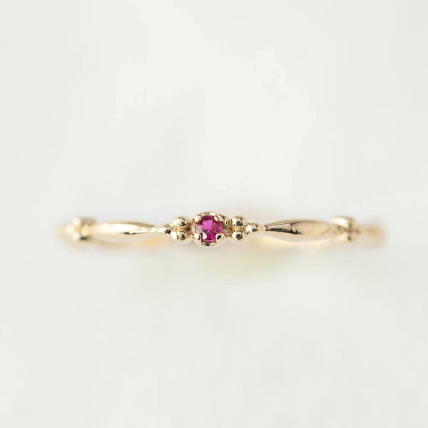July - Ruby Rubette Ring