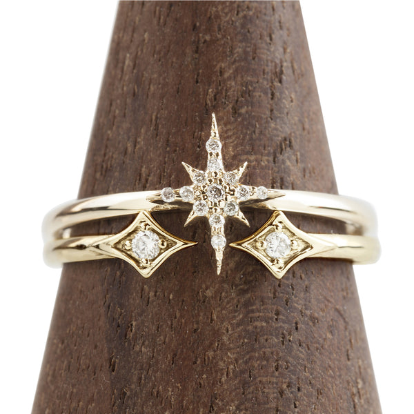 Starburst Diamond Set Ring