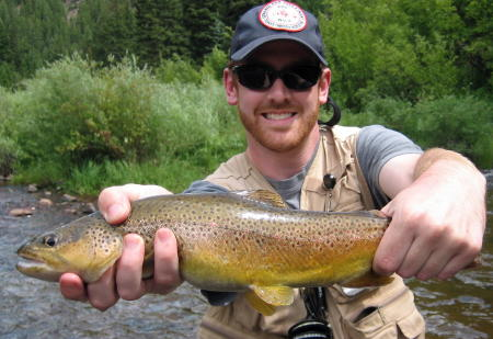 David with a PMD munching brown!