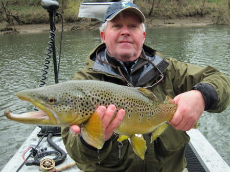 Randy with a big brown on a dry fly!