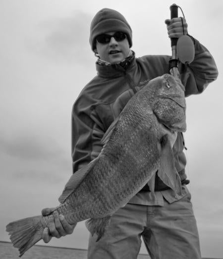 Black Drum in black and white!