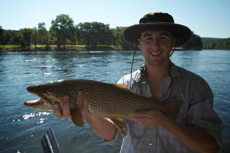 Jason's biggest trout of his life came on a dry fly yesterday-congrats man on an awesome fish!