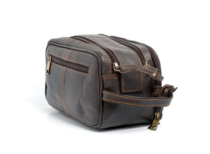 Mens Leather Washbag from Rowallen of Scotland