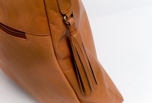 Tan Leather Scoop Bag from Rowallan of Scotland