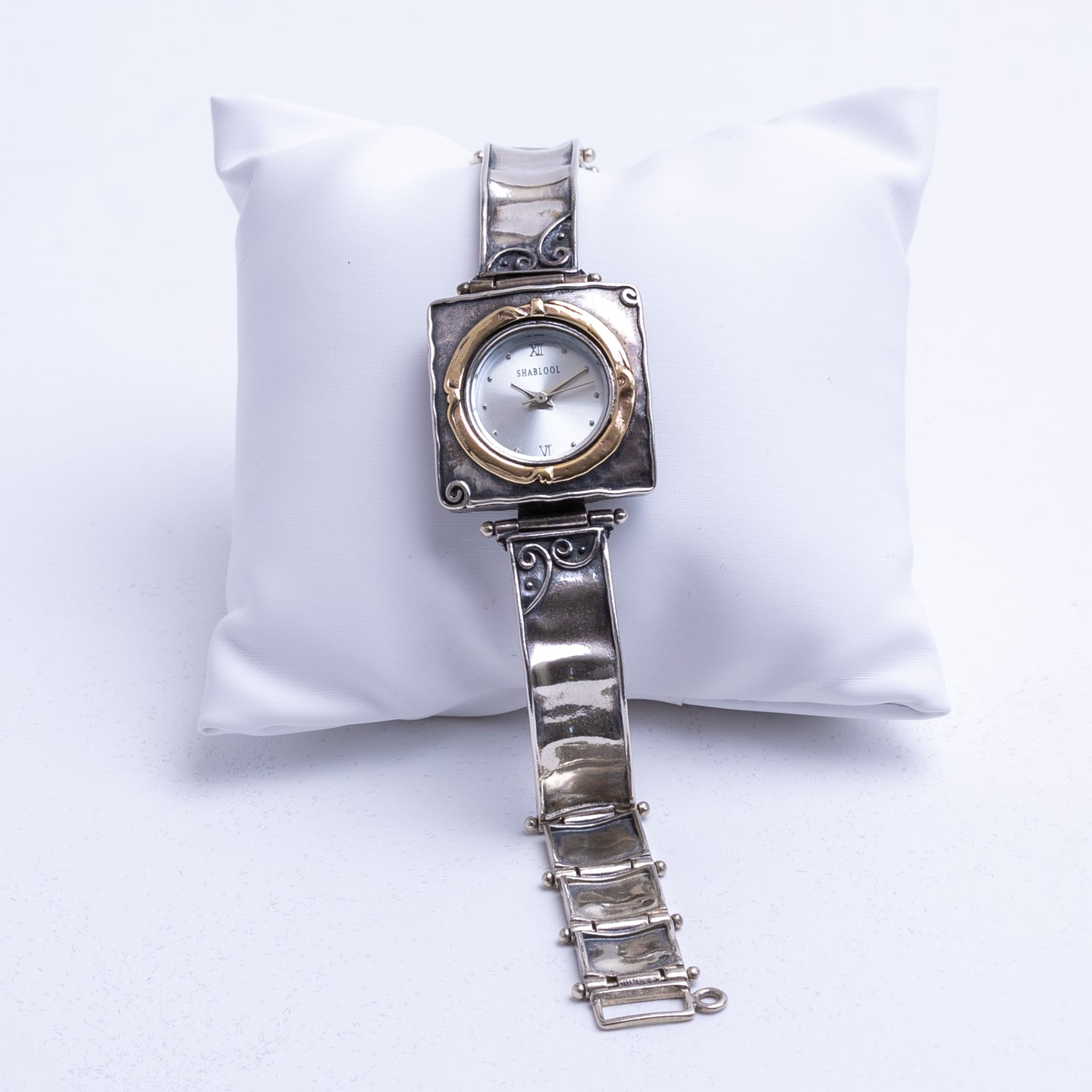 Square vintage-style panel watch