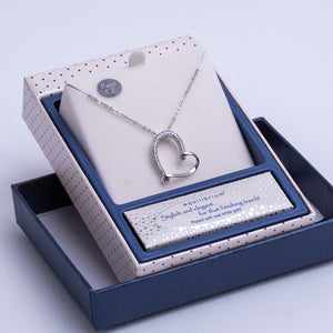 Equilibrium heart necklace