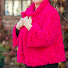 Load image into Gallery viewer, Hot pink teddy bear coat