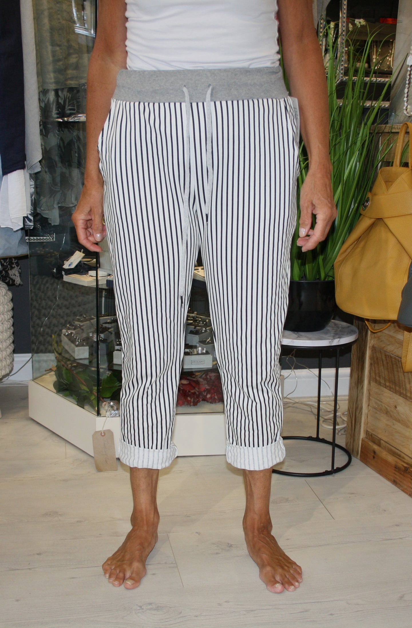 Thin Stripe Printed Trousers