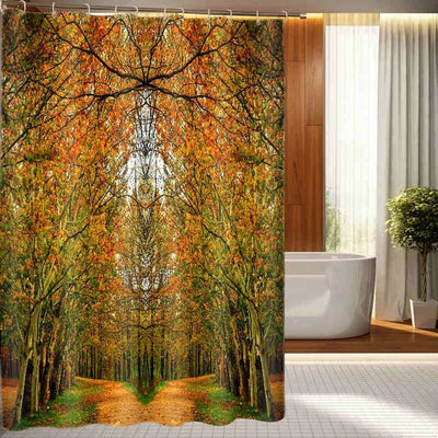 Rideau De Douche Arbre Orange