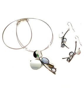 Christophe Poly Wire Necklace Sets (F0) with Earrings
