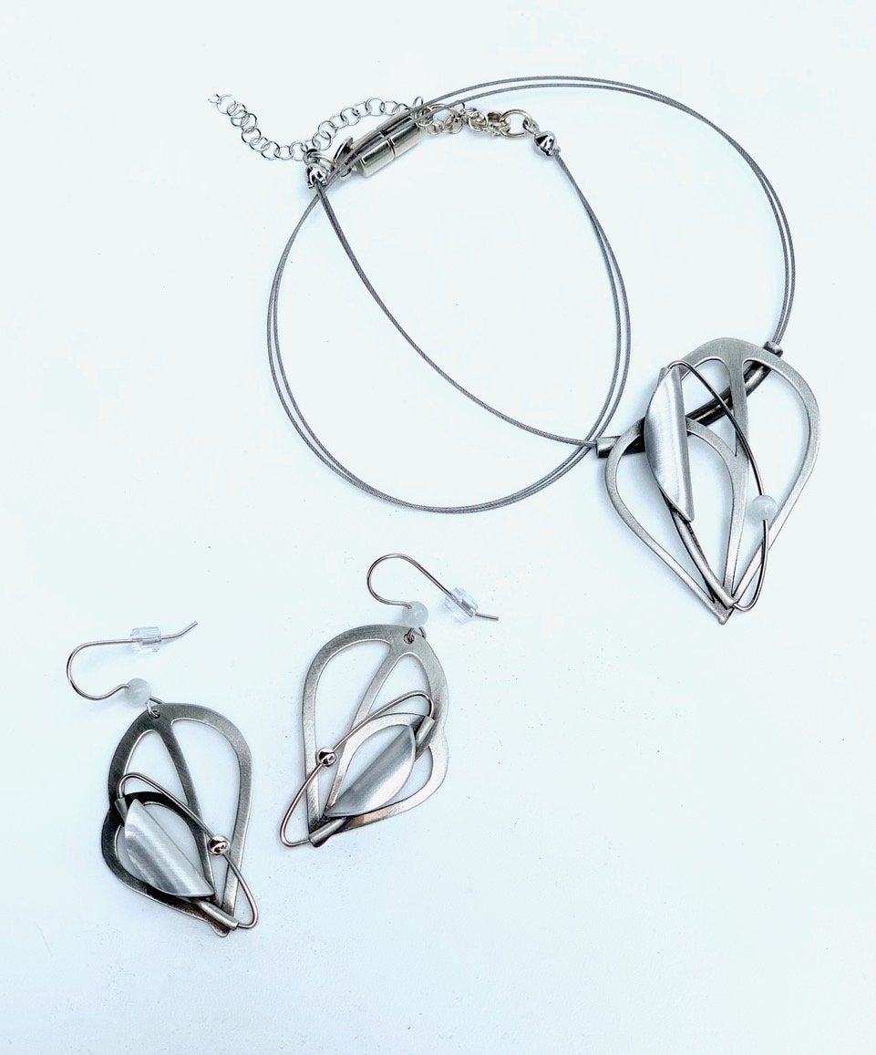 Christophe Poly Wire Necklace Sets (F2) with Earrings