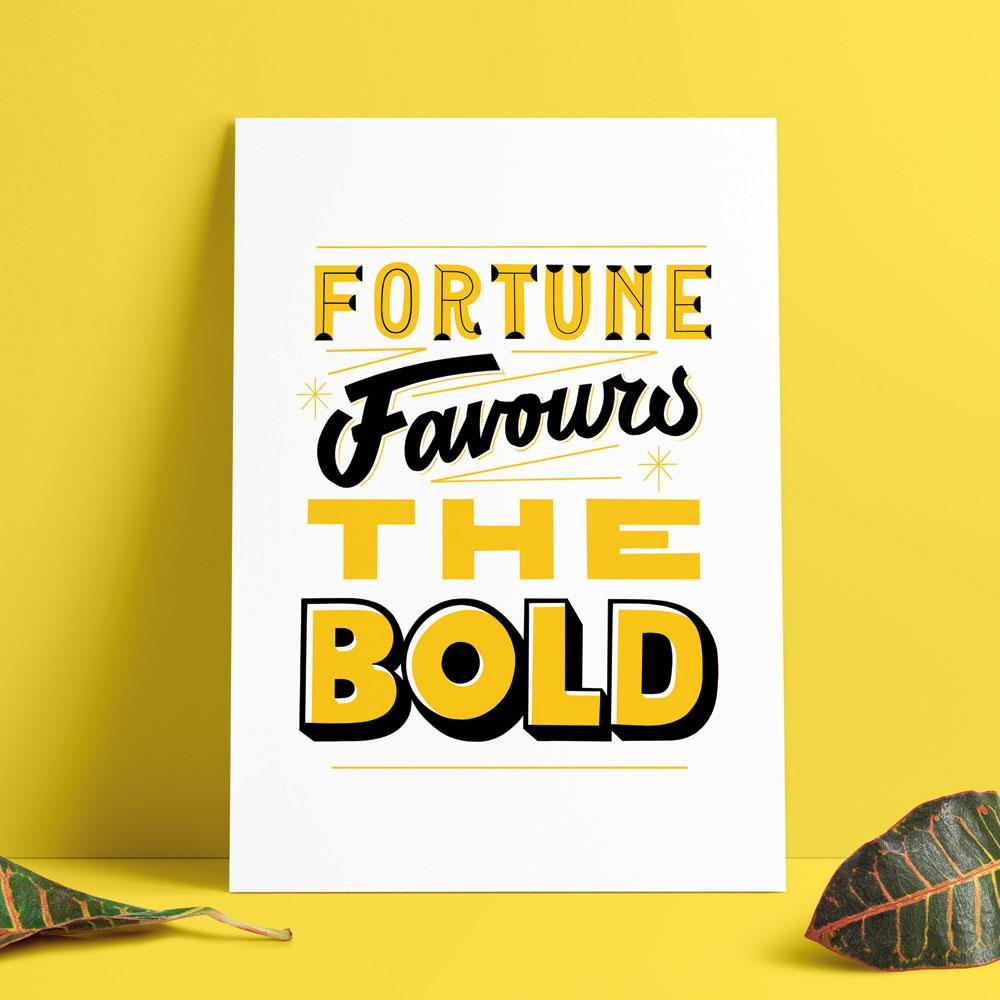 Fortune Favours the Bold - Zone Arts