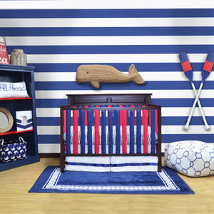 Wonder Bumpers Cotton - Navy & Red