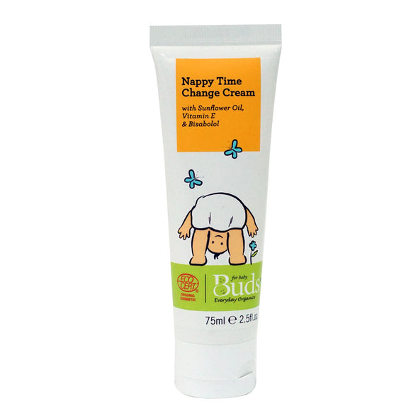 Buds Everday Organics Nappy Time Change Cream 75ml