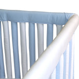 Wonder Bumpers Teething Guards in Organic Cotton - Blue & White
