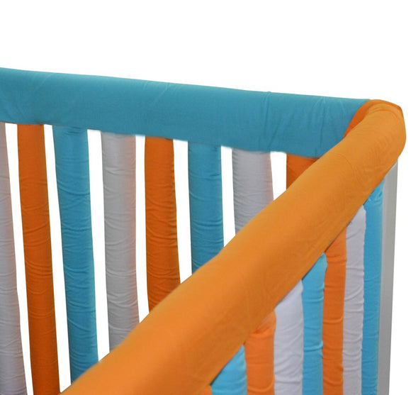 Wonder Bumpers Teething Guards in Cotton - Orange & Aqua