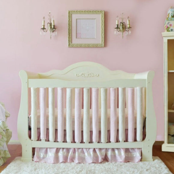 Wonder Bumpers Minky - Pink & Cream